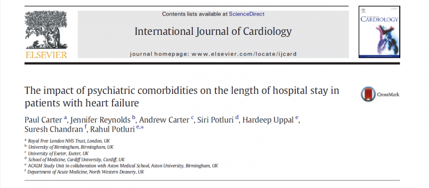 Heart failure patients with psychiatric comorbidity stay longer in hospital