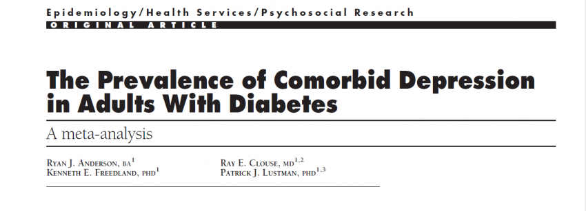 Prevalence of depression in patients with Diabetes mellitus