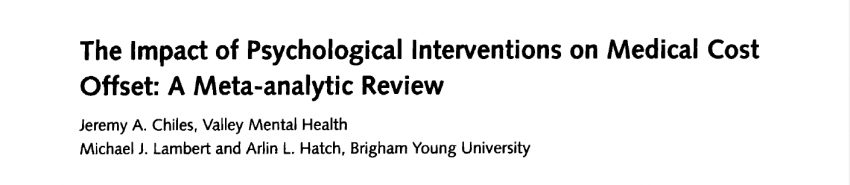 Psychological interventions reduce length of stay and health care costs
