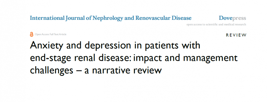 Anxiety and depression in renal disease