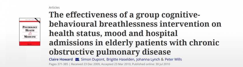 CBT based intervention in elderly COPD patients is cost-effective, reduces depressive symptoms and ED attendances