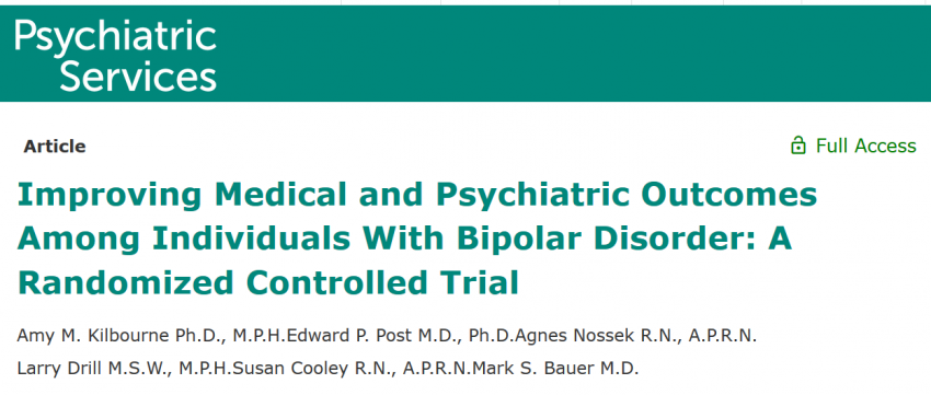 Teaching patients to better self-manage their bipolar disorder slows the decline in physical health-related quality of life