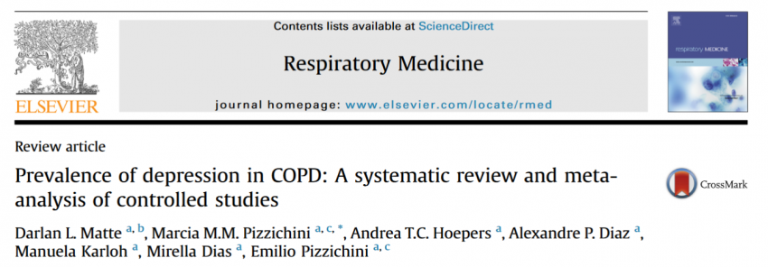 The prevalence of depression in patients with COPD