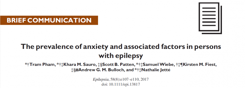 Prevalence of anxiety in people with epilepsy