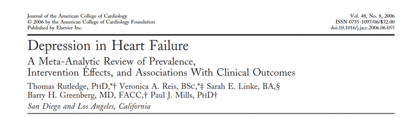 Prevalence of depression in patients with heart failure