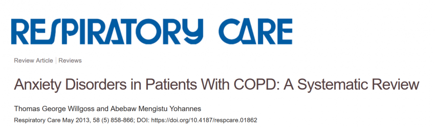 The prevalence of anxiety in patients with COPD