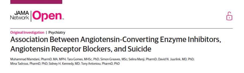 Angiotensin Receptor Blockers and risk of suicide