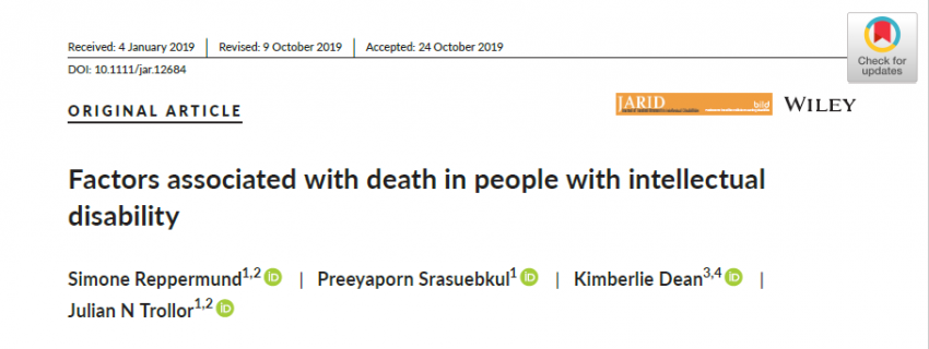 People with learning disability and comorbidities experience lower life expectancy