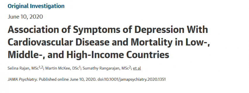 Association Between Depression and Heart Disease in Low- Middle- and High- Income Countries