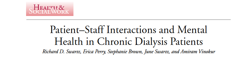 Communicating openly has a positive impact on patients on dialysis
