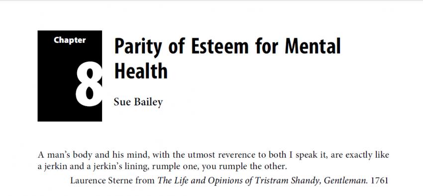 What does Parity of Esteem mean?