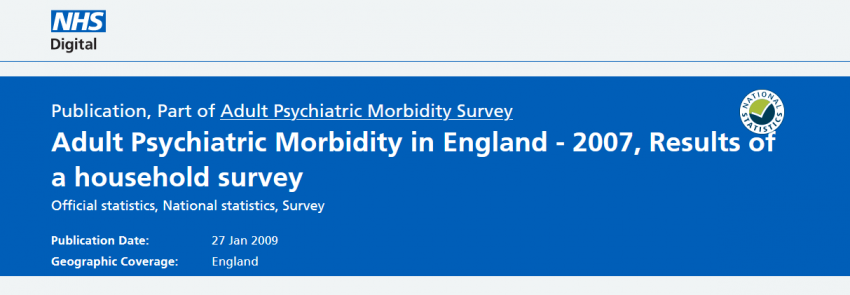 Adult Psychiatric Mortality in England 2007